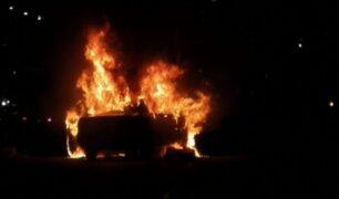 Pueblo Libre: auto ardió en llamas en plena avenida Brasil