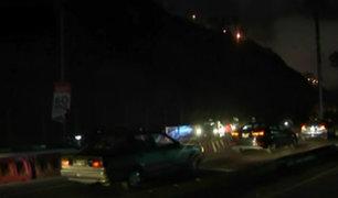 Derrumbe en la Costa Verde generó gran congestión vehicular