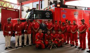 Miraflores: donan moderna unidad médica de rescate a compañía de bomberos N° 28