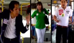 Elecciones congresales: Así los candidatos promocionan sus propuestas en los buses