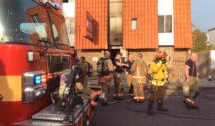 EEUU: voraz incendio en edificio de apartamentos deja al menos 5 muertos