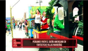 Peruanos viven el sueño americano en fantásticas villas navideñas