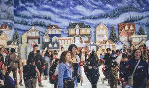 SJM: 'Villa de la Navidad' recibe con nieve real a sus visitantes