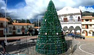 Huari: Instalan el primer árbol navideño ecológico