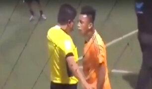 Trujillo: Cueva protagoniza nuevo enfrentamiento con árbitro durante partido amistoso