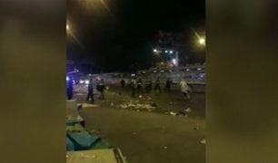 Independencia: ambulantes se enfrentan con serenos durante desalojo