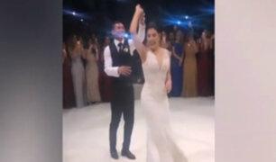 Boda de Edison Flores y Ana Siucho: deslumbraron en la pista de baile al ritmo de salsa