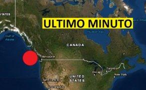 Canadá: se registran tres sismos de gran magnitud en menos de 3 horas