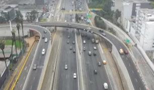 """Surco: abren al tránsito viaductos del intercambio vial """"El Derby"""""""