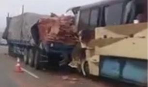 Cañete: un muerto y 20 heridos deja choque de bus interprovincial y tráiler