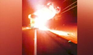 Huacho: falla eléctrica habría generado incendio en bus interprovincial