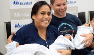Hospital Almenara: nacieron trillizos a vísperas de la Navidad