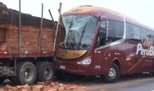Cañete: exceso de velocidad habría provocado choque de bus contra tráiler