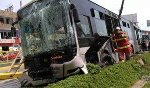 Independencia: conductor que impactó a bus de Metropolitano habría estado ebrio