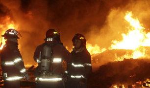 La Victoria: incendio consumió almacén de bicicletas durante Nochebuena