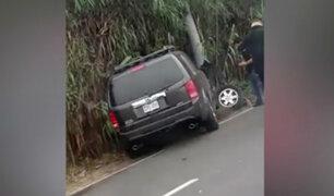 Costa Verde: camioneta invadió carril contrario y chocó con otro vehículo
