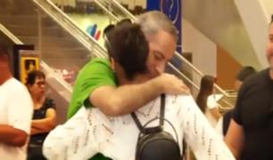 Aeropuerto Jorge Chávez se convirtió en escenario de emotivos reencuentros por Navidad