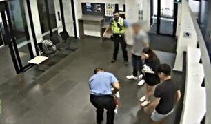 Acto heroico: policía salva a bebé que se estaba asfixiando en víspera de Navidad