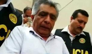 David Cornejo: exalcalde de Chiclayo fue trasladado a penal de Lima