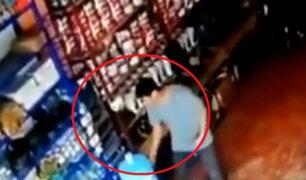 Vraem: pareja es captada robando 9 mil soles de una ferretería