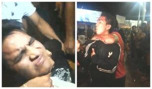 Iquitos: presuntos sujetos golpeados habrían robado cartera a joven