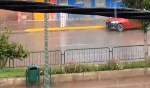 Cusco: ciudadanos recibieron Navidad con intensa granizada