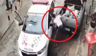 Capturan a ladrón tras apretarlo entre dos vehículos en Brasil