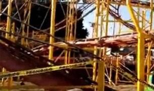 VIDEO: se descarrila montaña rusa, reportan una niña grave