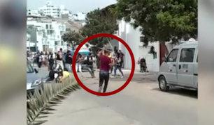 Extranjeros se enfrentaron a serenos tras ser impedidos de ingresar con bebidas alcohólicas a balneario de Punta Hermosa