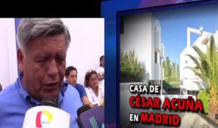 César Acuña responde por compra millonaria de lujosa residencia en Madrid