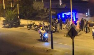"""Chorrillos: motociclistas realizan """"piques ilegales"""" en playa La Herradura"""