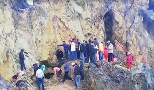 Cajamarca: adolescente cae a socavón de minería ilegal