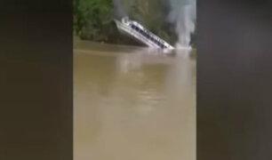 Loreto: pasajeros de embarcación salvaron de morir tras hundimiento