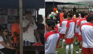 Paolo Guerrero a decenas de niños: piensen que su sueño es llegar a la Selección Peruana
