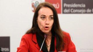 Ministra Revilla descarta renunciar tras polémicas declaraciones sobre feminicidio