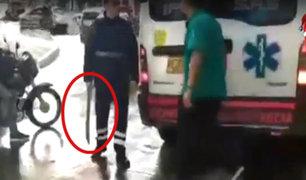 Colombia: conductores de ambulancia se agarran a golpes por un accidente