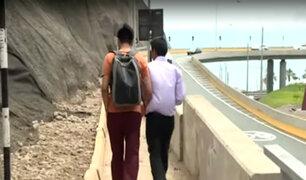 Bajada Armendáriz: vía de acceso a playas es un peligro para peatones