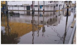 Piura amanece inundada tras fuertes lluvias durante la madrugada