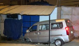 Carabayllo: anciana murió tras choque de miniván con vivienda