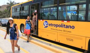 'Circuito de playas' del Metropolitano: servicio especial operará de lunes a domingo