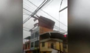 Lluvias y fuertes vientos hicieron volar techos en Moyobamba