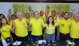 Solidaridad Nacional cuestiona al JEE por exclusión de 11 candidatos por Lima