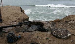 Punta Hermosa: aguas residuales desembocaron en el mar tras colapso de desagüe