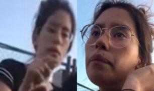 San Isidro: choca auto del Mininter y lanza insultos racistas contra familia