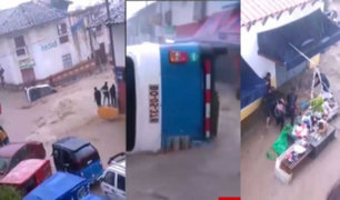 Cajamarca: lluvias torrenciales arrastraron vehículos e inundaron viviendas