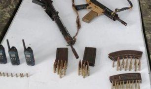 Vraem: Fuerzas Armadas y PNP incautan armas de guerra
