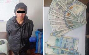 Capturan a sujeto con gran cantidad de billetes falsos en Mesa Redonda