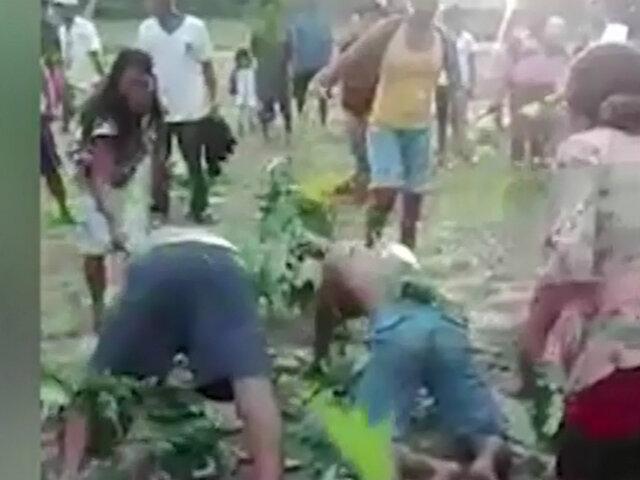 Vraem: pobladores castigan a tres ladrones con plantas de ortiga