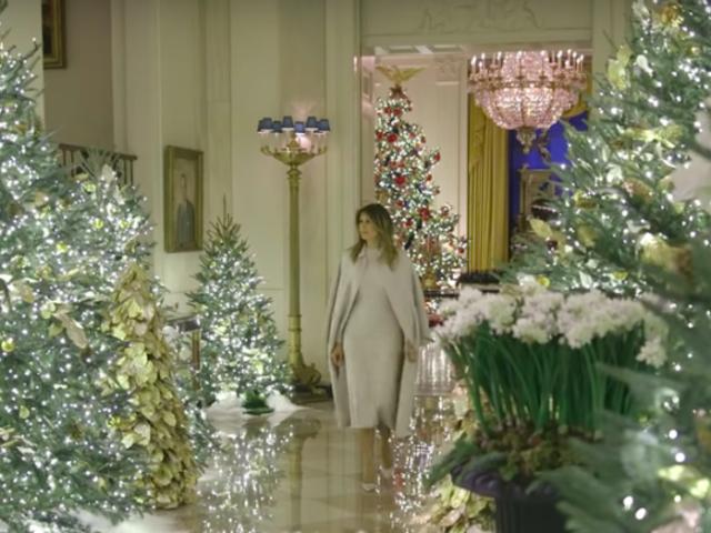 EEUU: Melania Trump reveló nueva decoración navideña de la Casa Blanca
