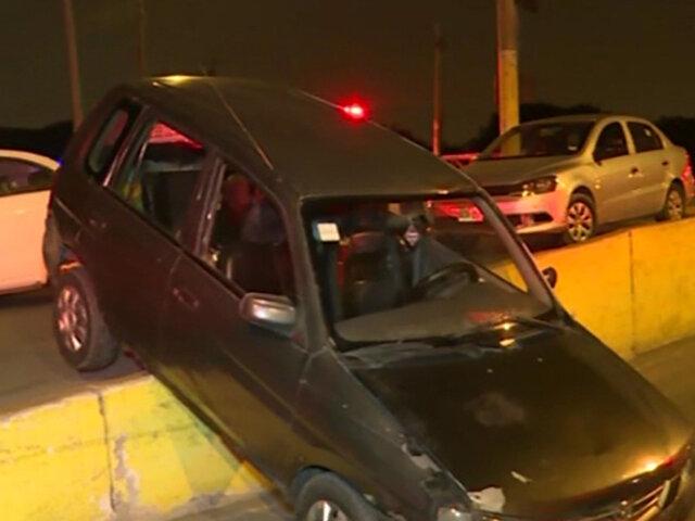 Puente Piedra: conductor salvó de morir tras sufrir aparatoso accidente
